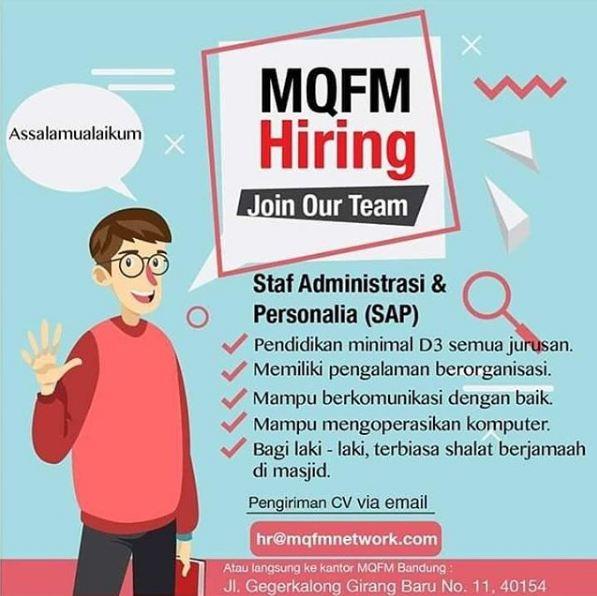 Lowongan Kerja MQFM