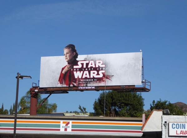 Star Wars Last Jedi Leia billboard