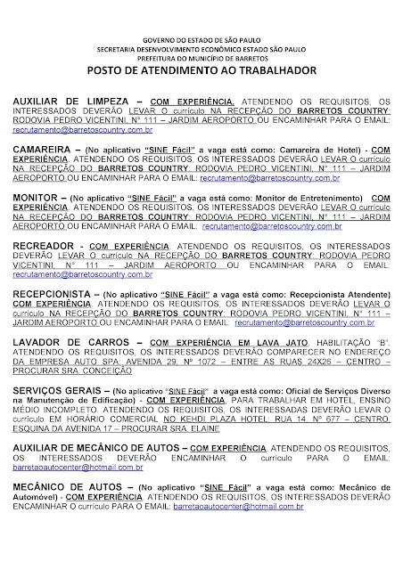 VAGAS DE EMPREGO DO PAT BARRETOS PARA 05-11-2020 PUBLICADAS DE MANHÃ - Pag. 4
