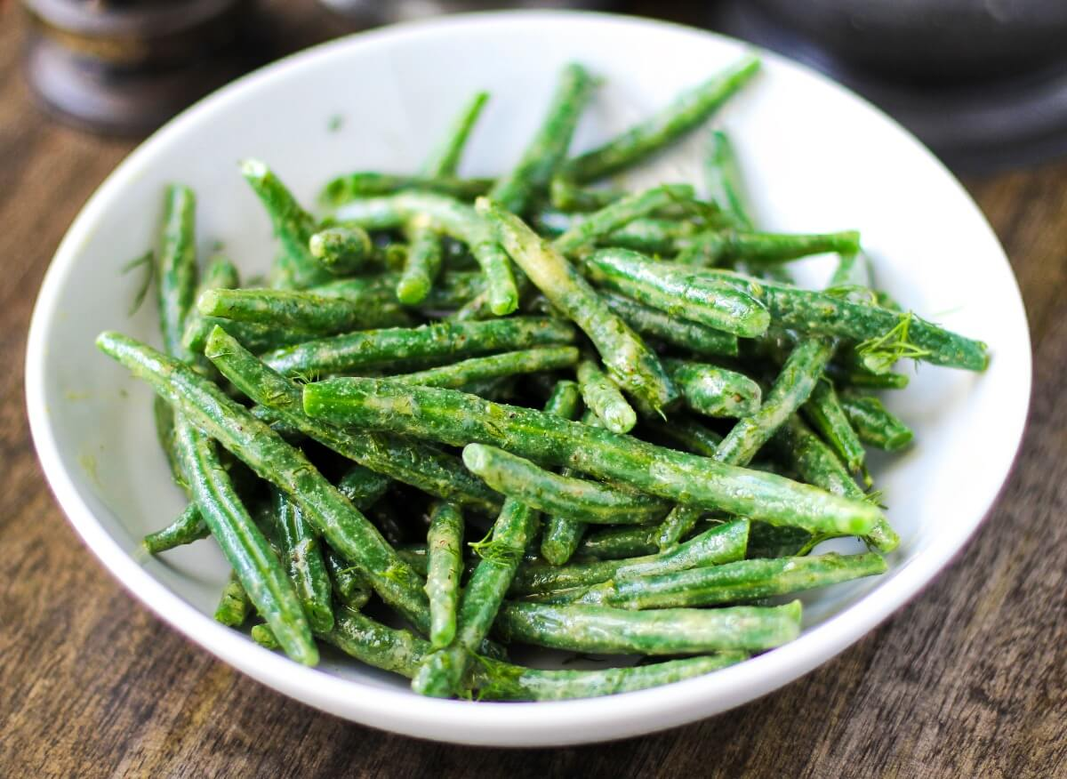 Haricot Vert Salad with dill.