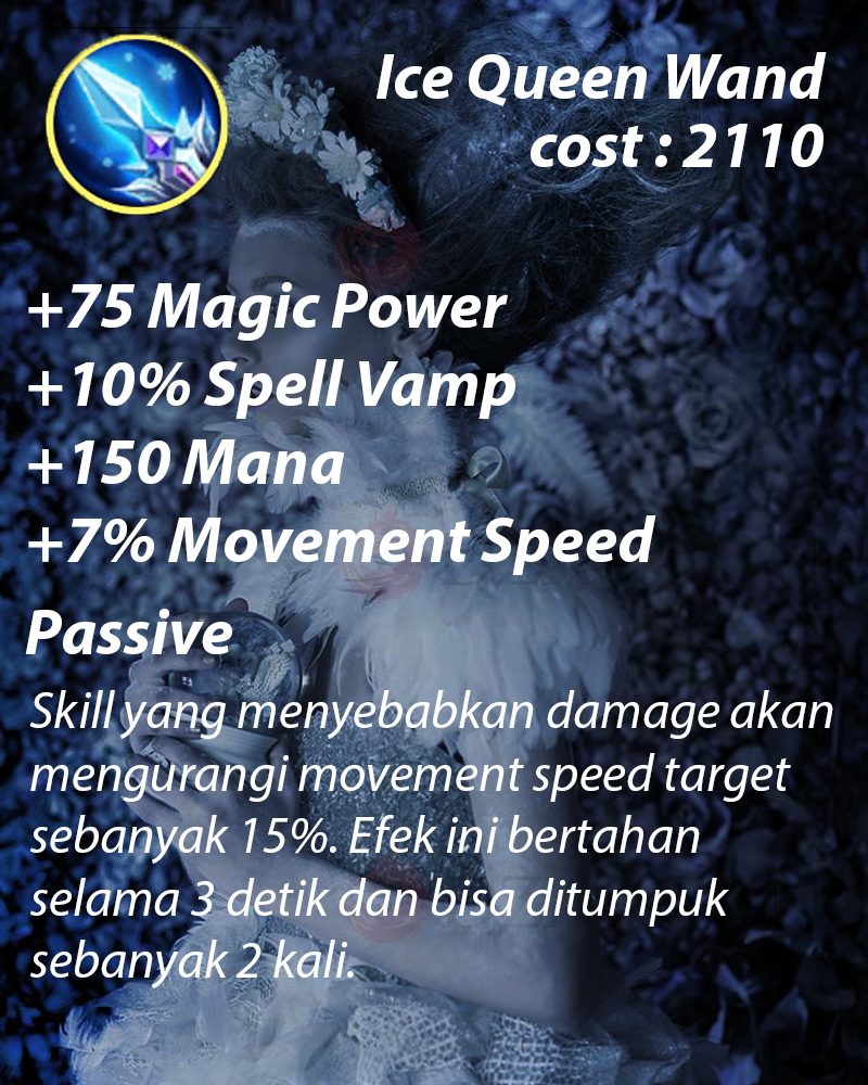 Ice Queen Wand item Wajib Eudora Ice Queen Wand