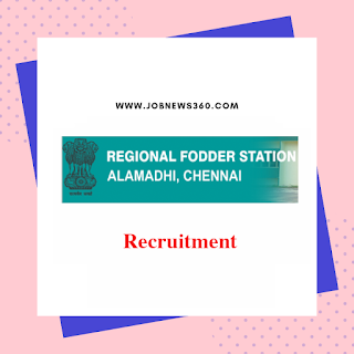 Regional Fodder Station Chennai Recruitment 2019 for Upper Division Clerk