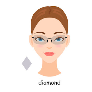 Eyeglasses Frames For Diamond Face Shape : Eyewear Fashion Blog: Which are Best Eyeglasses for Your ...