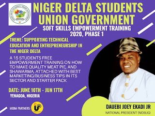 Niger Delta Students Union Government to host a free soft employment training (Phase 1)