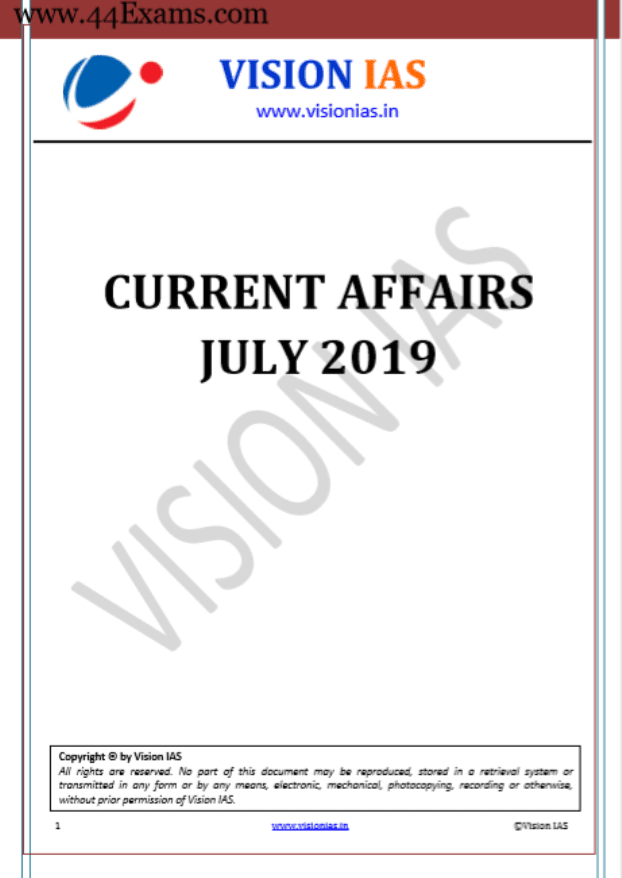 Vision-IAS-Current-Affairs-July-2019-For-UPSC-Exam-PDF-Book