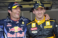 Mark Webber Robert Kubica F1
