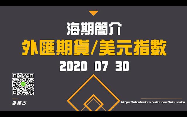 外匯期貨/美元指數 20200730 PTT