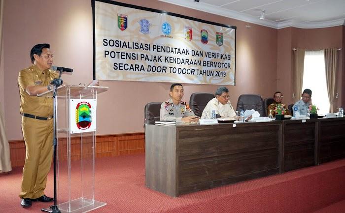 Tunggakan PKB Rp1,2 Triliun, Bapenda Lampung Sosialisasi Pendataan dan Verifikasi Potensi Penerimaan Pajak Di Lamsel.