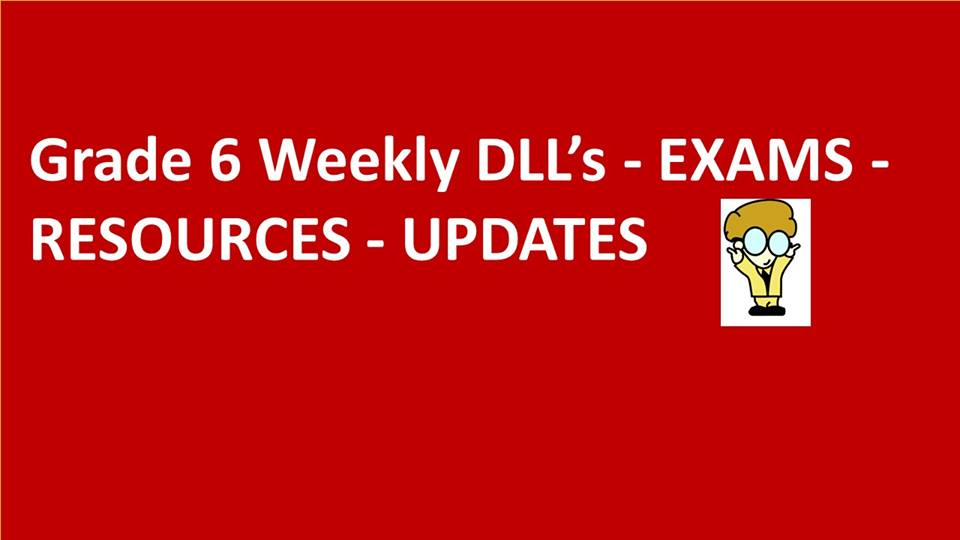 DepEd Sharing: Grade 6 (K-12) Daily Lesson Logs DLL's