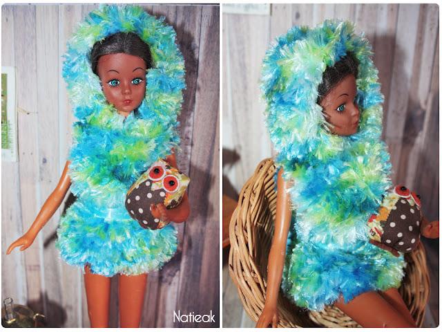 DIY  robe en tricot à capuche  pour Dolls