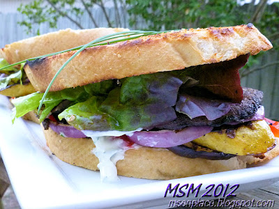 Grilled Vegetable Sandwich w/ Herbed Mayo