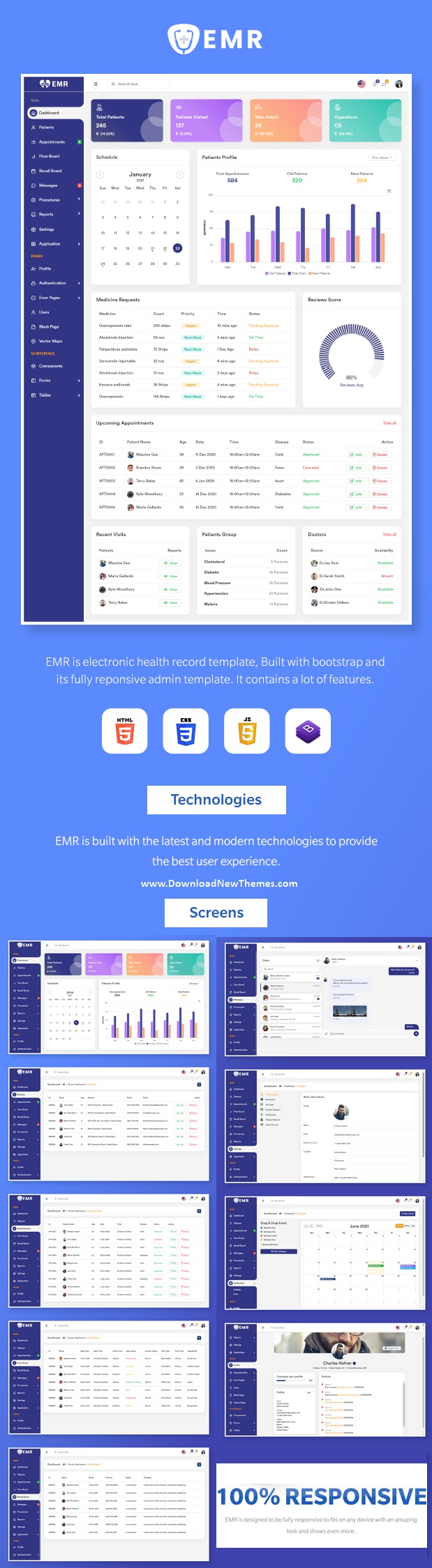 Electronic Medical Record Admin Template