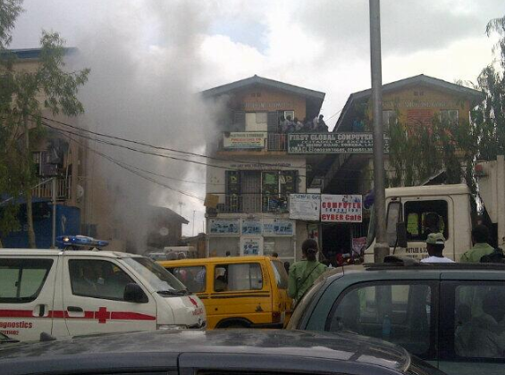 omolad shopping complex fire
