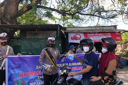 Operasi Keselamatan, Polres Sumbawa Imbau Warga Disiplin Lalu Lintas & Prokes