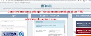 """Cara terbaru buka info gtk """"tanpa menggunakan akun PTK"""""""