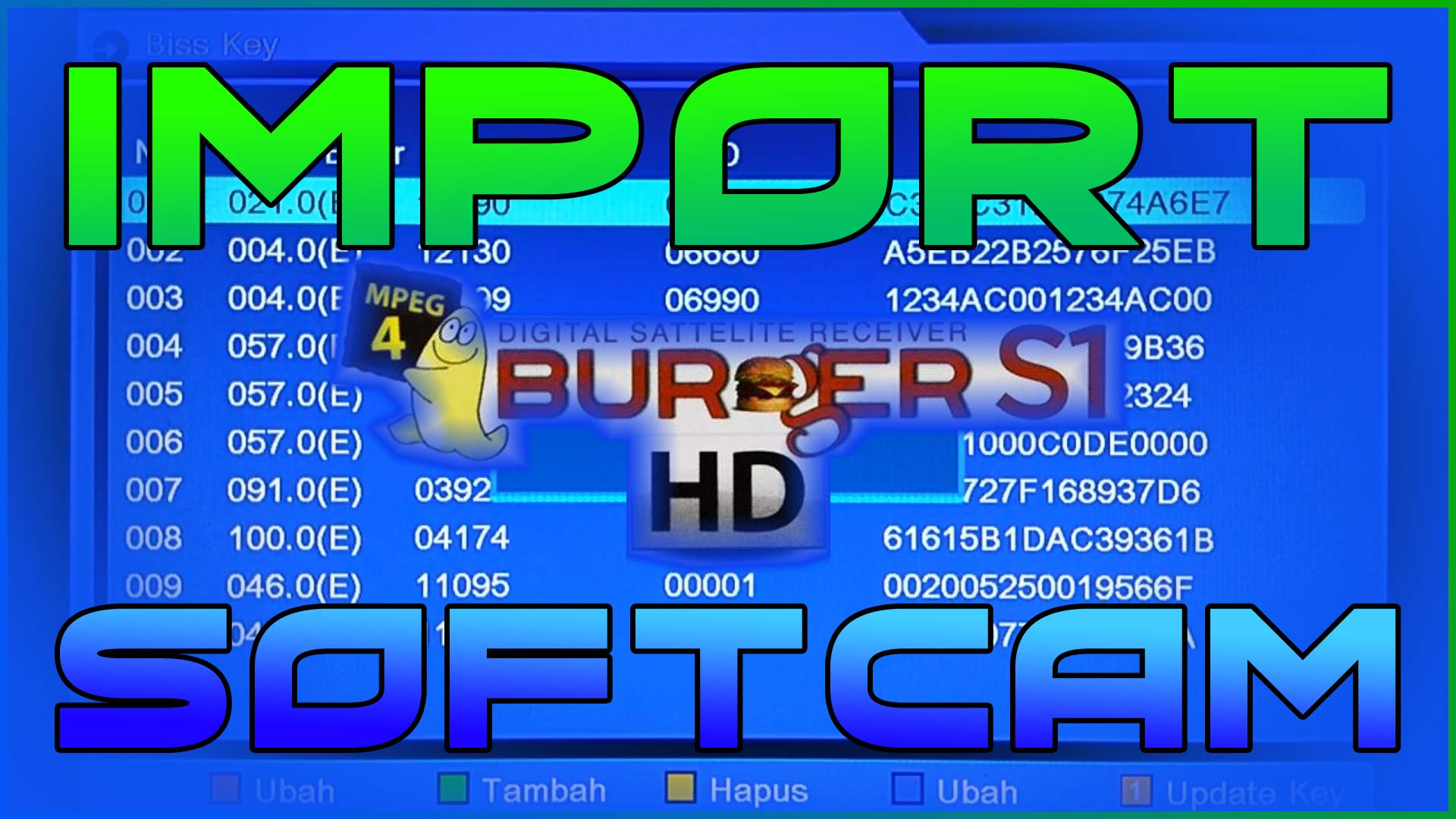 Cara Input Softcam Key Matrix Burger S1 Mini Terbaru
