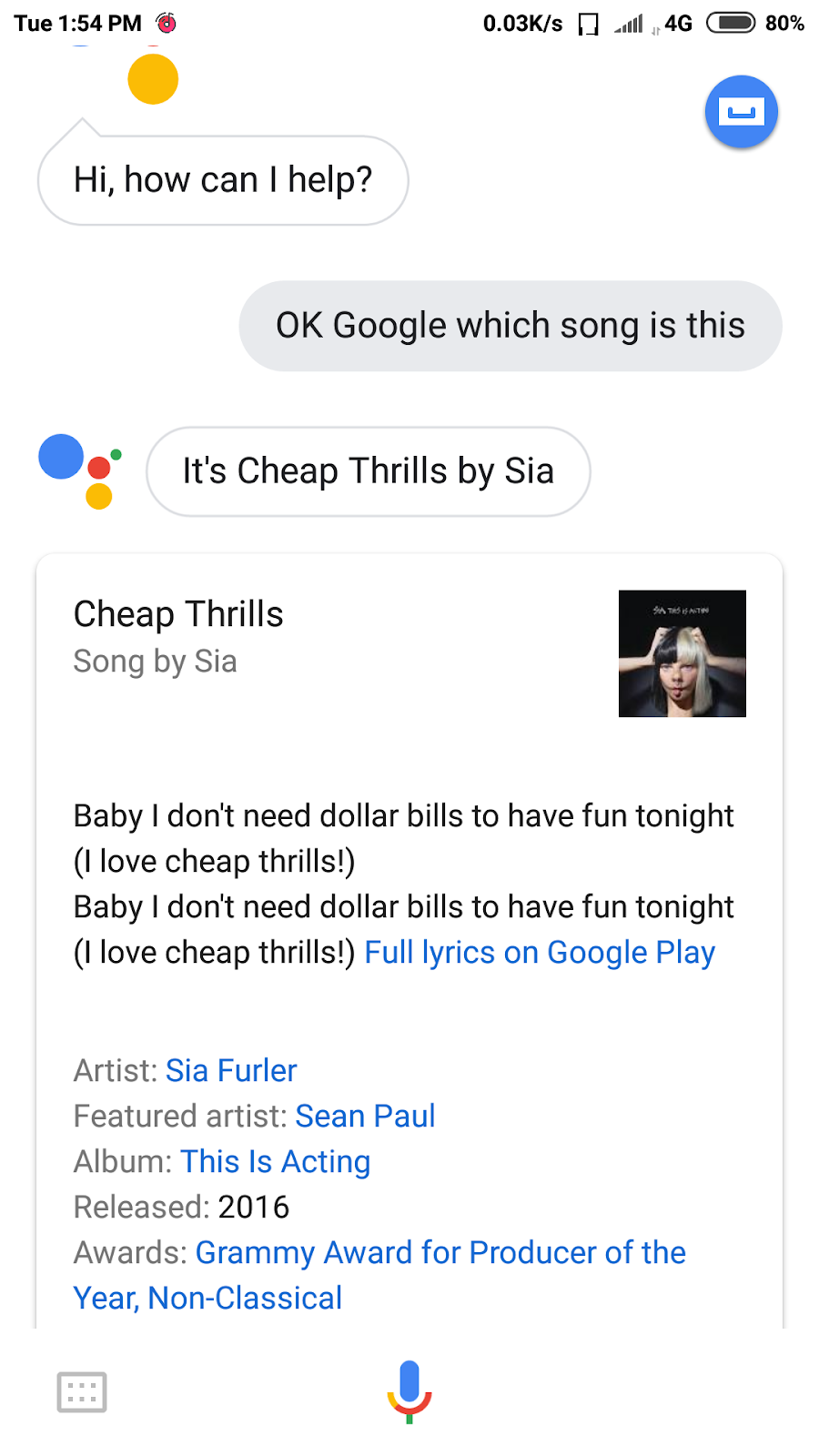 Identifying Song Name Using Google Assistance