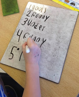 Use whiteboards to practice sight words or word wall words.