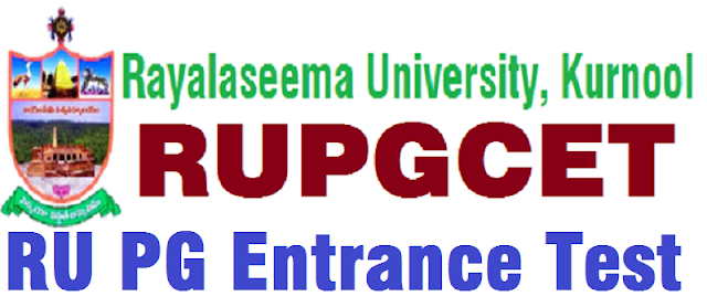 RUPGCET,Rayalaseema University,PG entrance test 2017