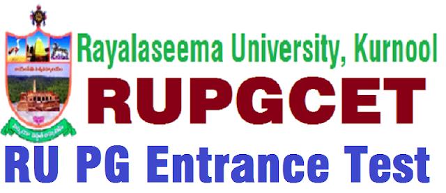 RUPGCET,Rayalaseema University,PG entrance test 2018