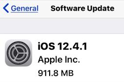 iOS 12.4.1 Download Update