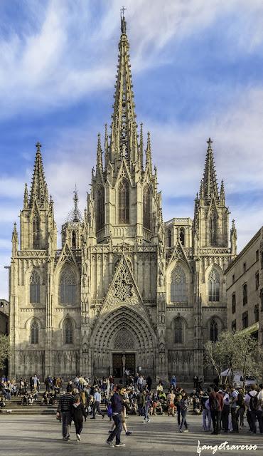 Barcelona, landscape, Cathedral, Spain, Esagne, Voyage, Trekking