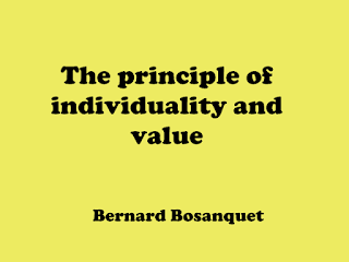 The principle of individuality and value