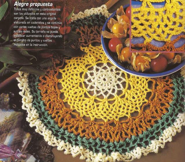 Patrón #1192: Carpeta Crochet