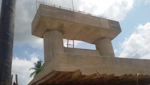 Jembatan yang Terletak di Desa Pandan Kabupaten PALI Menelan Anggaran APBD Milyaran Rupiah