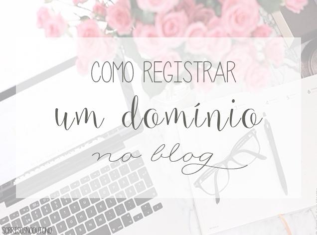como registrar um domínio no blog