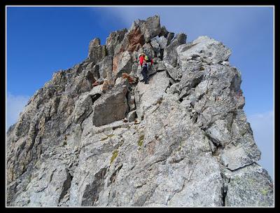 trepando hacia la cima del Crabioules