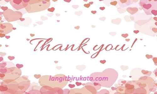 Ucapan Terima Kasih Bahasa Inggris Untuk Kekasih - langitbirukata.com