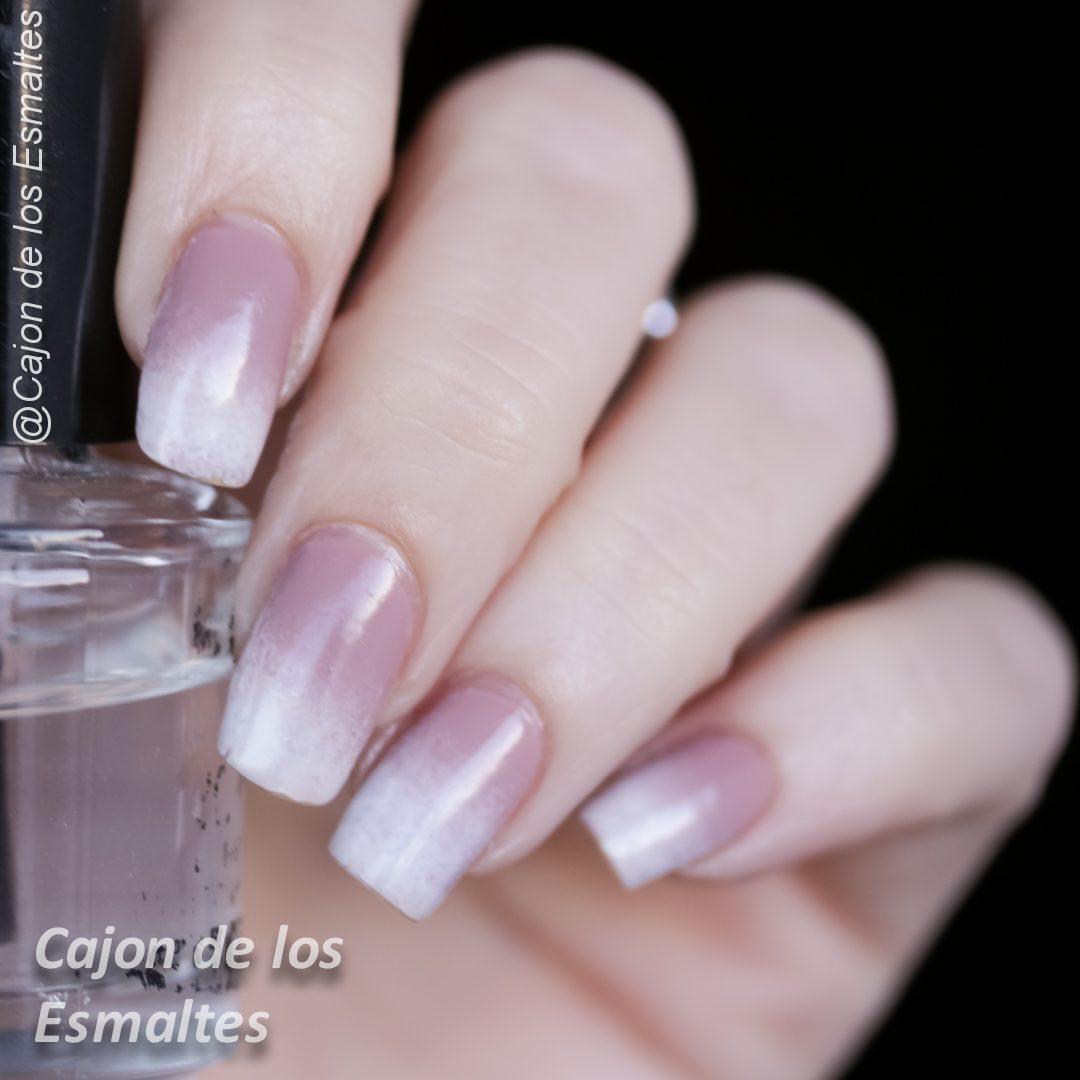 Uñas ombre o degrade baby boomer nails - Barrera latex líquido ...