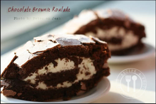 Chocolate Brownie Roulade