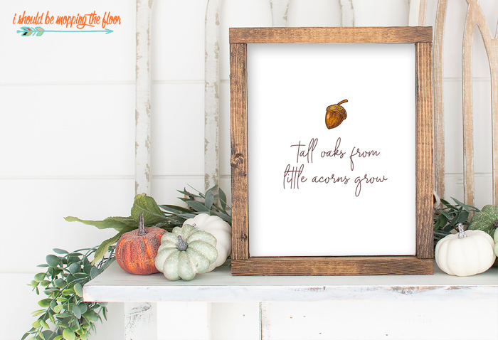 Fall Acorn Printable