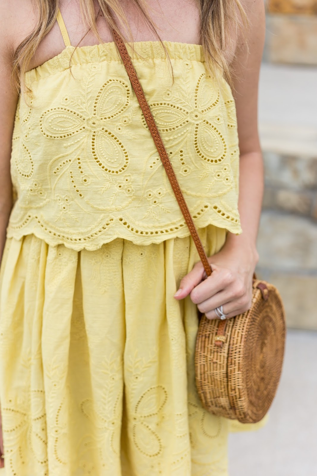 cutest eyelet dress