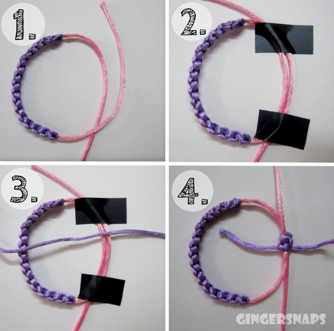 Diy Square Knot Bracelets For