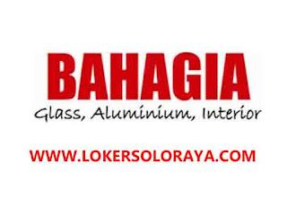 Loker Solo Staff Adm Accounting dan Staff Marketing di Toko Kaca Bahagia