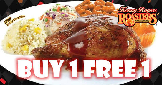 Kenny Rogers ROASTERS: Buy 1 FREE 1 (19-21 September 2017)