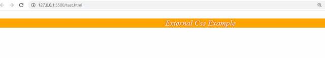 EXTERNAL CSS EXAPMLE