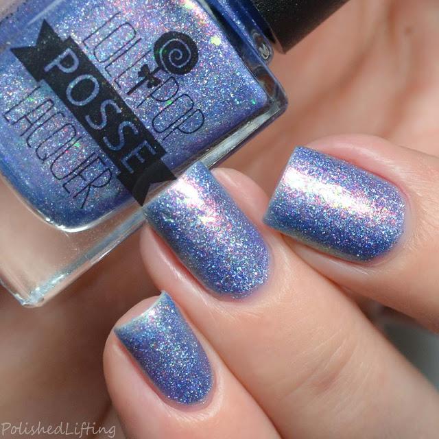 purple holo flakie nail polish