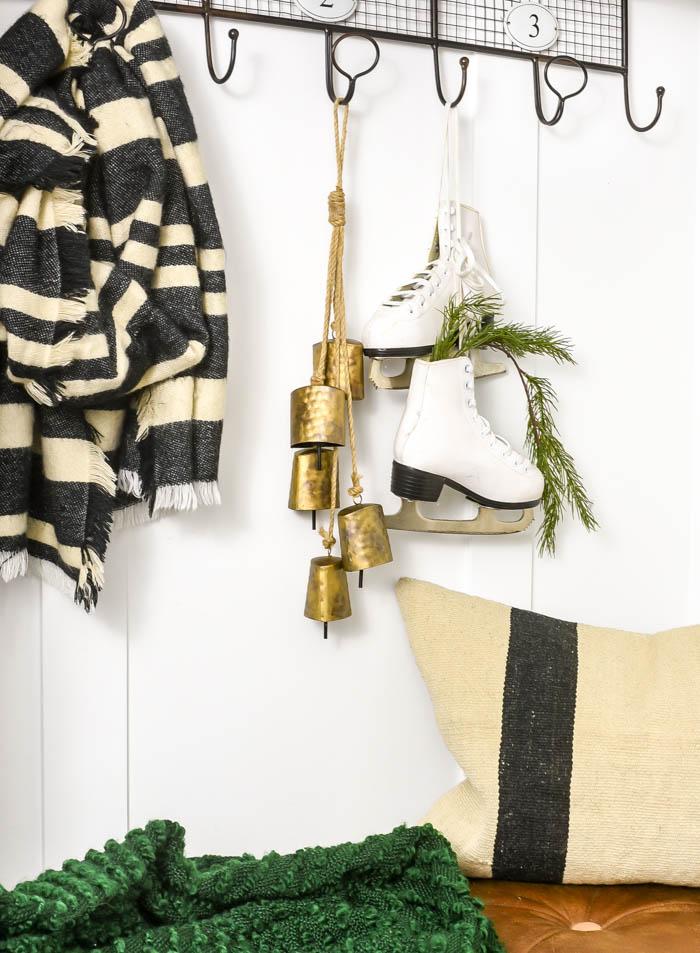 Aged vintage-inspired hanging bells