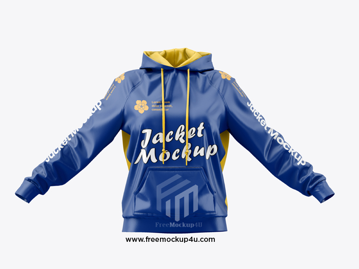 Exercise Jacket Front View Mockup Free Download
