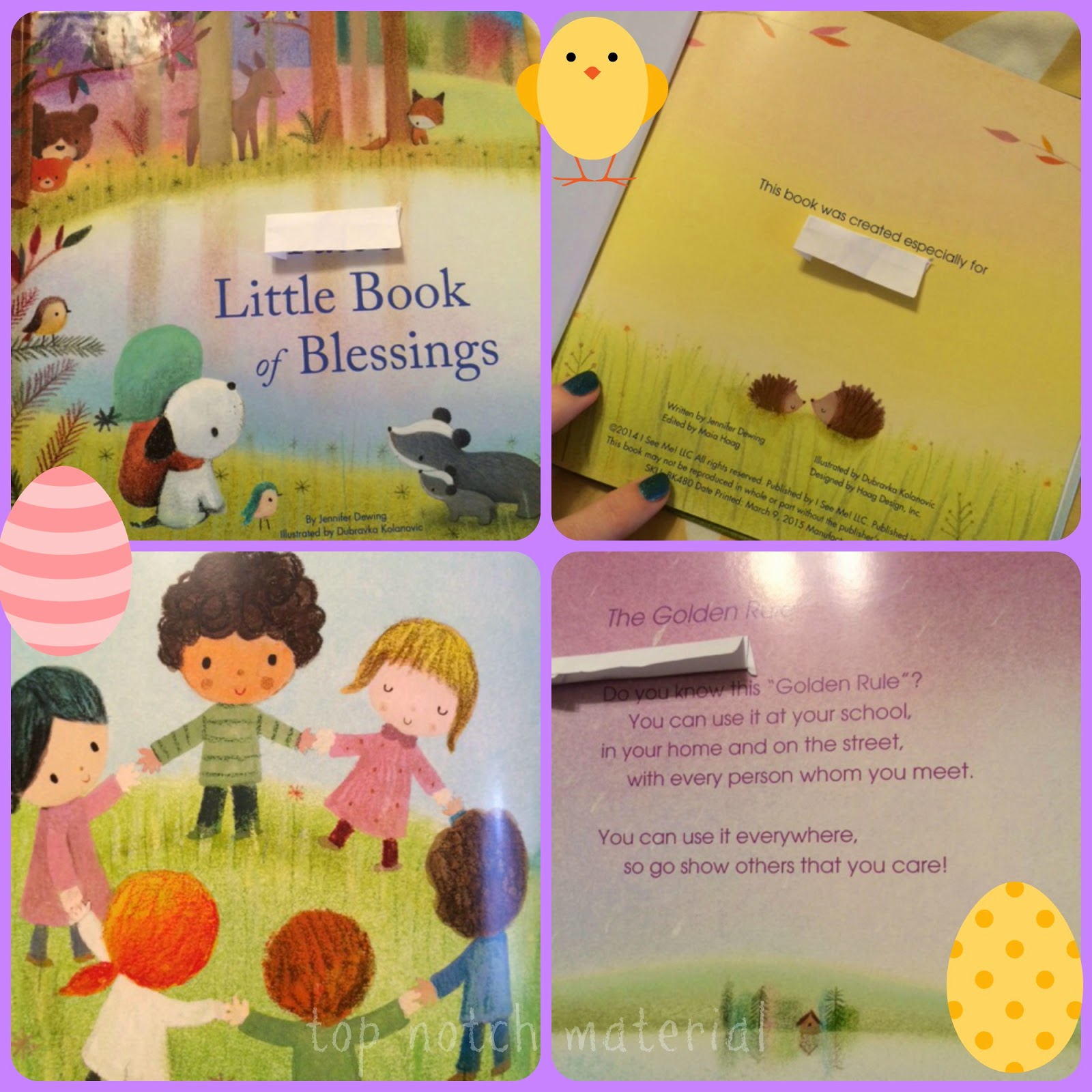 Top notch material i see me offers the best personalized easter paige i picked the personalized book my little book of blessings personalized book for my little man this sing songy book talks about all the blessing negle Choice Image