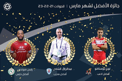 مدرب أبها ولاعب الوحدة ومبولحي يحصدون جوائز الشهر في الدوري السعودي