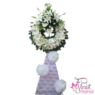 Flower arrangement for funeral in Hanoi