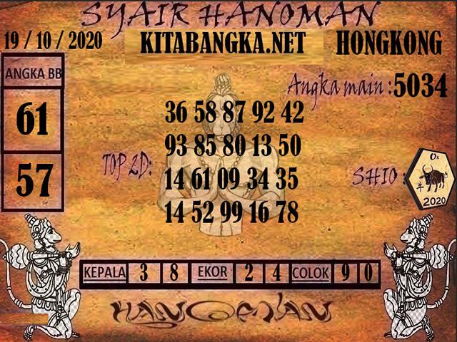 Kode syair Hongkong senin 19 oktober 2020 190