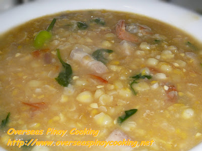 Suam na Mais, Pinoy Corn Soup