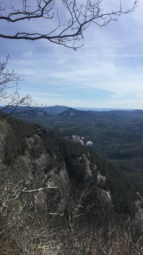 Whiteside mountain rockface