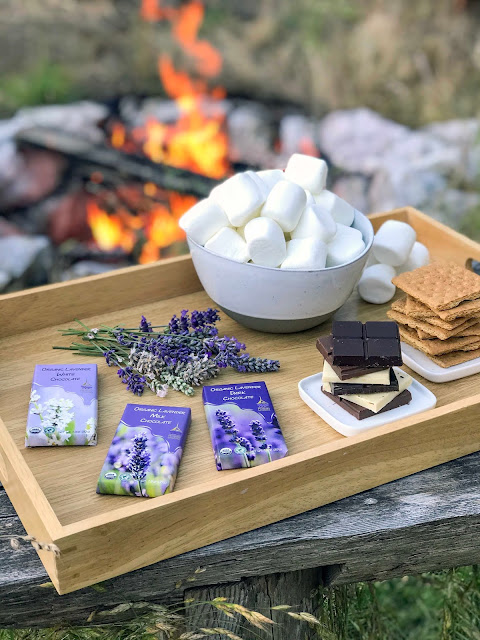 Toasting Marshmallows and Making Lavender Chocolate S'Mores